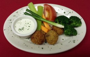 1. 	Raw Vegetables & Fried Mushrooms w/Ranch Dip